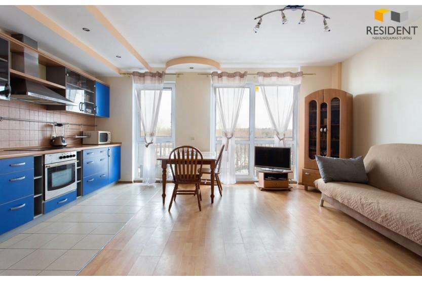 Parduodamas butas Salomėjos Nėries g. 89, Fabijoniškėse, Vilniuje, 52.44 kv.m ploto, 2 kambariai
