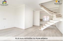 Parduodamas namas Gilužio g. , Pilaitėje, Vilniuje, 90.27 kv.m ploto, 3 aukštai