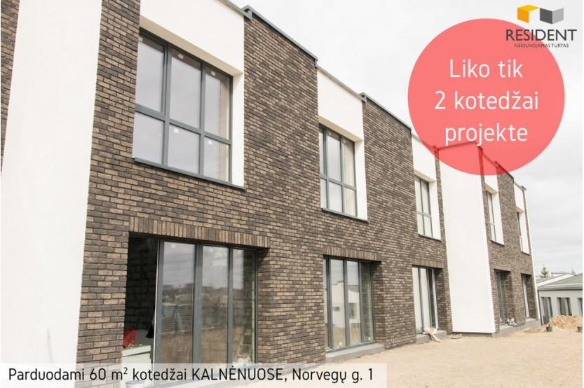 Parduodamas įrengtas namas Norvegų g. , Kalnėnuose, Vilniuje, 60 kv.m ploto, 2 aukštai